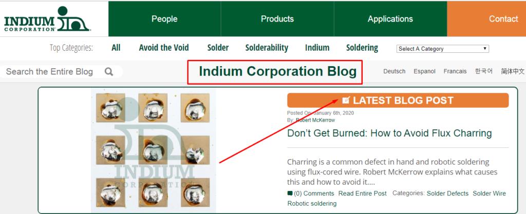 Indium educational content example