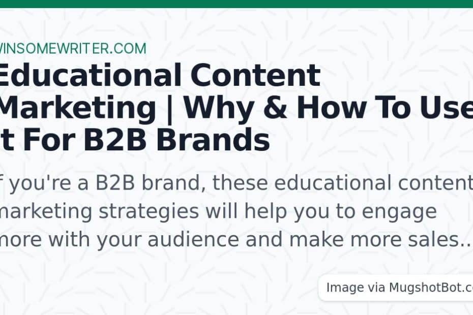 educational content marketing